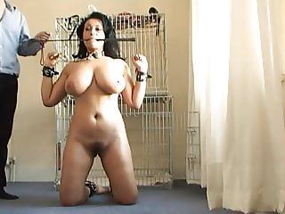 CMNF - Busty slave pet domestic naked routine