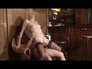french blonde granny anal fuck