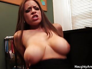 naughty america Yurizan Beltran fucking in the office