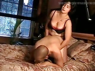 Girl friend uses a strap on