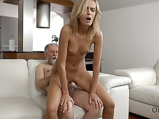 OLD4K. Horny daddy demonstrates blonde colleen what passion